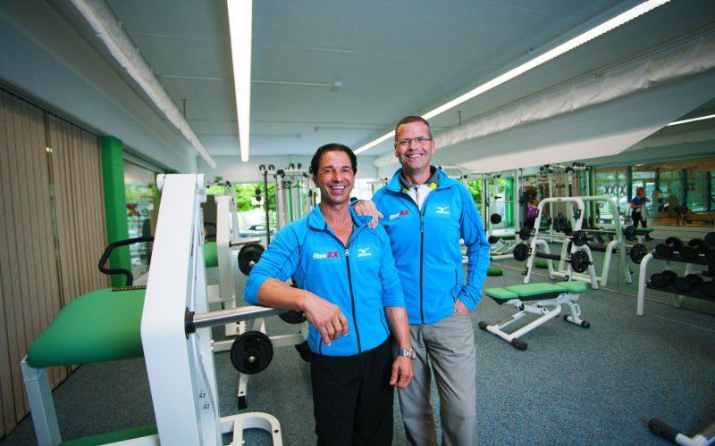 Roberto Borghi und Heinz Büttler vom FitneXX in Oensingen